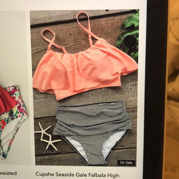 911944a030 Cupshe Swim | Seaside Gale Falbala Highwaisted Bikini | Poshmark